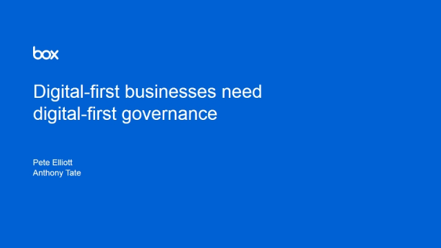 Digital-First Governance: Data Protection for the Digital Age