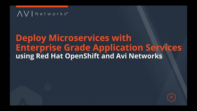 Deploy Microservices with Enterprise Grade Application Services