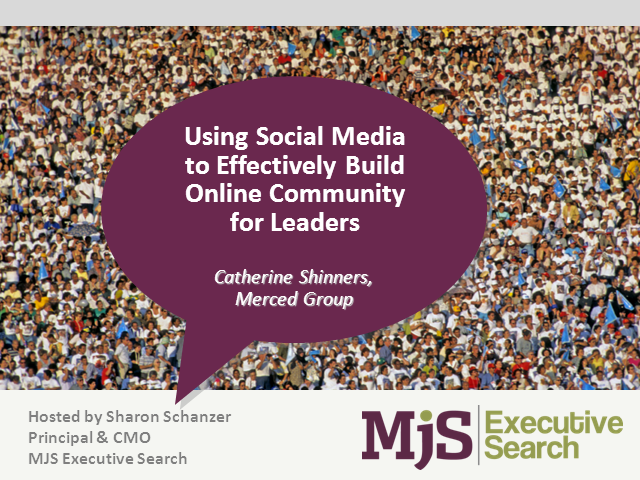 Using Social Media to Effectively Build Online Community for Leaders