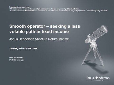 Smooth operator – seeking a less volatile path in fixed income