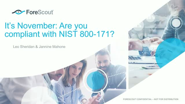 It's November.  How compliant are you with NIST 800-171?