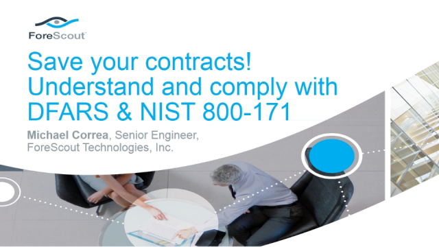 Save your contracts! Understand and comply with DFARS & NIST 800-171