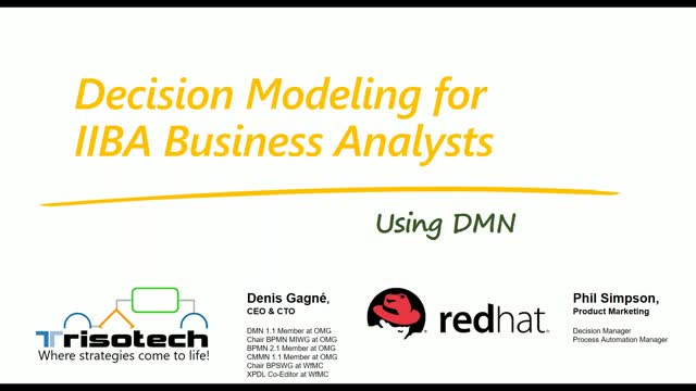 Decision Modeling for Business Analysts using DMN