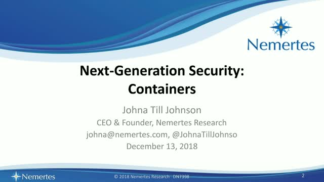 Next-Generation Security: Containers