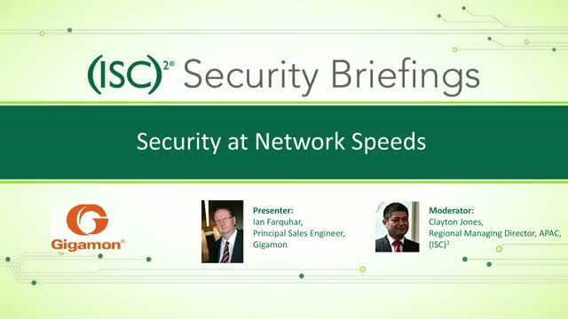 Security at Network Speeds