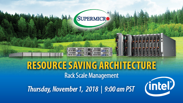 Resource-Saving Architecture – Rack Scale Management