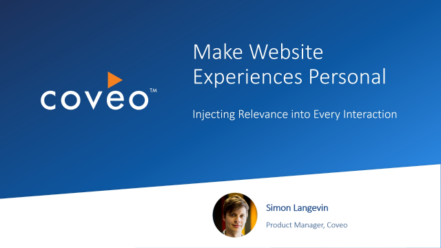 Make Website Experiences Personal: Injecting Relevance into Every Interaction