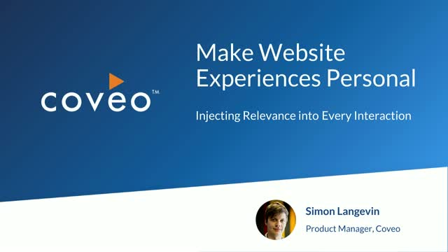 Make Web Experiences Personal: Use AI to Inject Relevance into Every Interaction