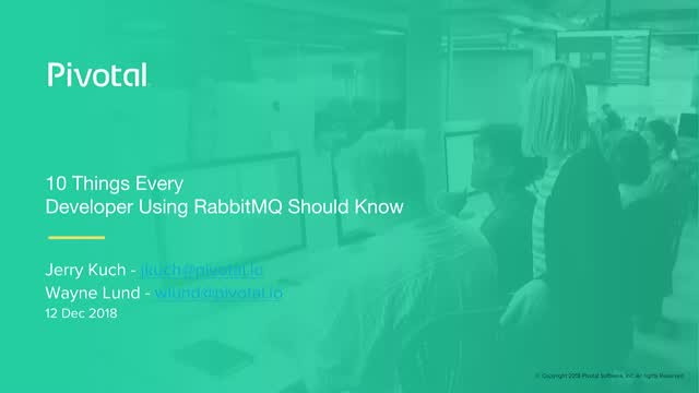 10 Things Every Developer Using RabbitMQ Should Know