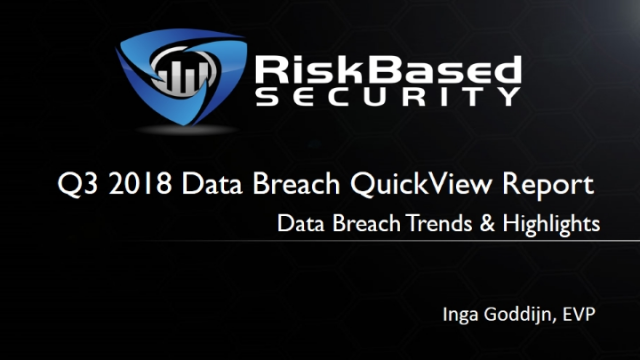 The Data Breach Landscape - Trends and Highlights Through September 2018