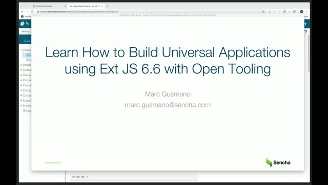 SNC - Learn How to Build Universal Apps Using Ext JS 6.6 with Open Tooling