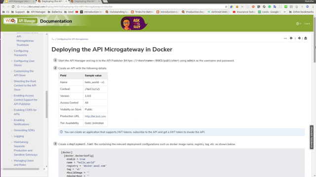 Running a microgateway in Docker and Kubernetes, Quick tour of API Microgateway