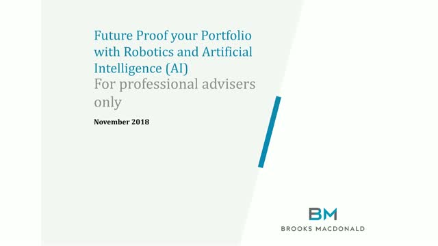 Future Proof your portfolio with Robotics & AI