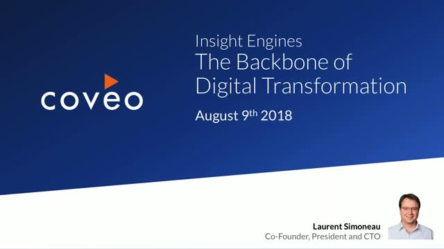 Insight Engines - The Backbone of Digital Transformation