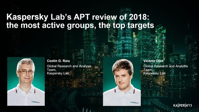 Kaspersky Lab's APT review of 2018: the most active groups, the top targets