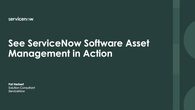 Demo Center - See ServiceNow Software Asset Management in Action