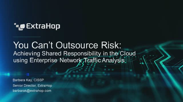 You Can't Outsource Risk: Shared Responsibility in the Cloud