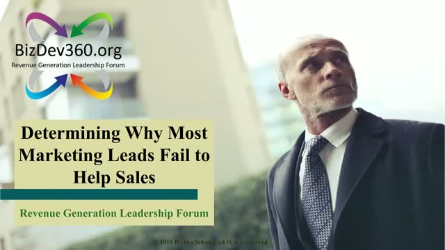 UNDERSTANDING WHY MOST MARKETING LEADS FAIL TO HELP SALES
