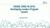 Rising Stars in 2019: Developing Leaders Program Launch
