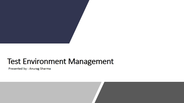 Test Environment Management