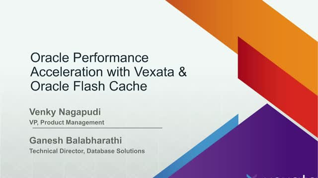 Accelerate Oracle Performance with Vexata and Database Smart Flash Cache