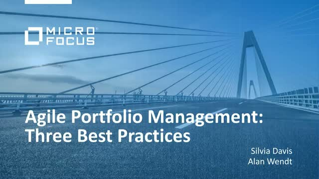 Agile Portfolio Management: Three best practices