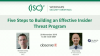Five Steps to Building an Effective Insider Threat Program