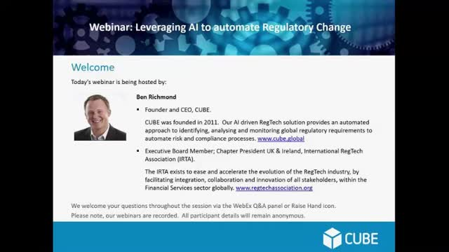 Leveraging AI to automate Regulatory Change