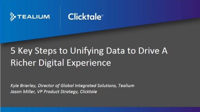 5 Ways to Unify Data and Drive a Richer Digital Experience