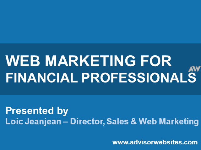 Web Marketing for Financial Professionals