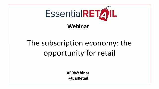 The subscription economy: the opportunity for retail