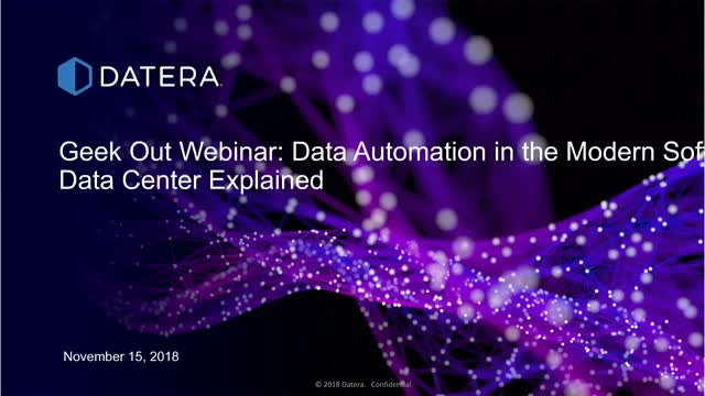 Geek Out: Data Automation in the Modern Software Defined Data Center Explained