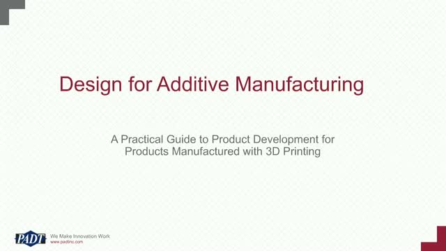 Introduction to Design for Additive Manufacturing
