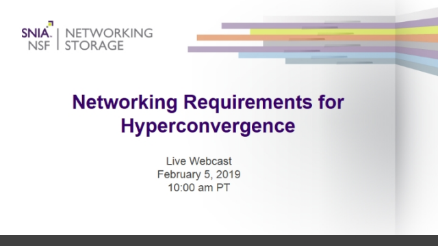 Networking Requirements for Hyperconvergence