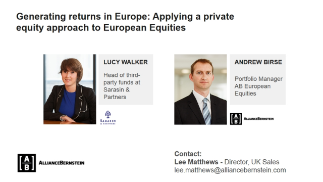 APPLYING A PRIVATE EQUITY LIKE APPROACH TO EUROPEAN EQUITY INVESTING
