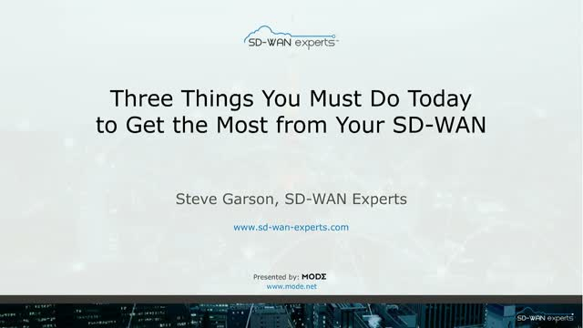 SD-WAN: 3 Must-Do's for Peak Performance