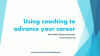 IFLR Women in Business Law: using coaching to advance your career