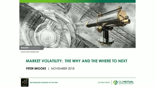 Market Volatility: The why and the where to next