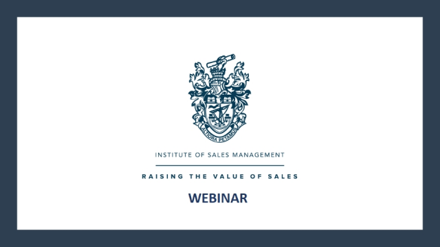 ISM Webinar: Lack of Pipeline - The number 1 reason you are not hitting Quota