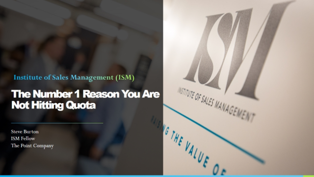 Webinar: The Number 1 Reason You Are Not Hitting Quota