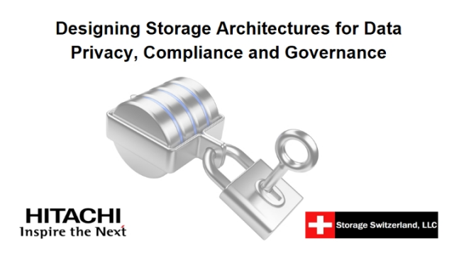 Designing Storage Architectures for Data Privacy, Compliance and Governance