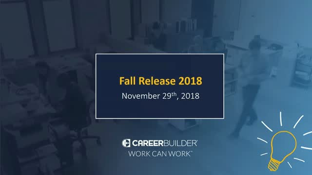 Fall 2018 Product Release Update