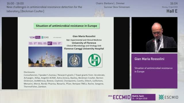 The Situation of Antimicrobial Resistance in Europe