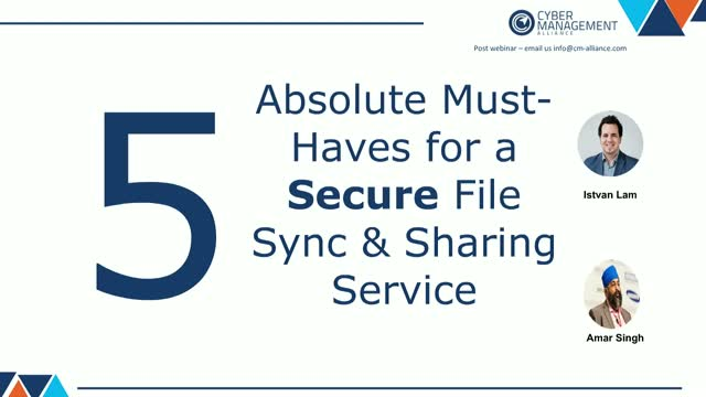 5 Absolute Must-Haves for a Secure File Sync & Sharing Service