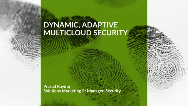 Dynamic, Adaptive Multicloud Security