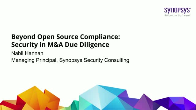 Beyond Open Source Compliance: Security in M&A Due Diligence