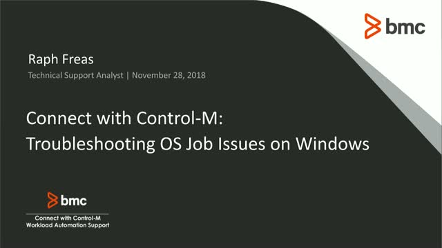 Connect With Control-M: Troubleshooting OS Job Issues on Windows