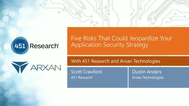 Five Risks That Could Jeopardize Your Application Security Strategy