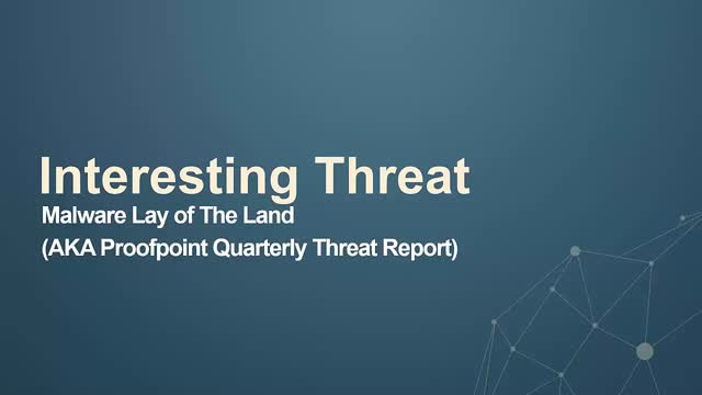 Weekly Threat Byte | Q3 Trends