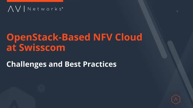 OpenStack-based NFV Cloud at Swisscom: Challenges and Best Practices